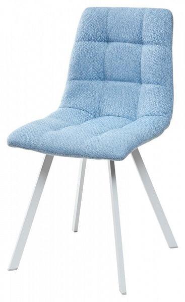 Стул CHILLI SQUARE TRF-10 небесно-голубой, ткань/ белый каркас (фото)