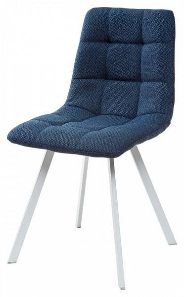 Стул CHILLI SQUARE TRF-06 полночный синий, ткань/ белый каркас (фото)