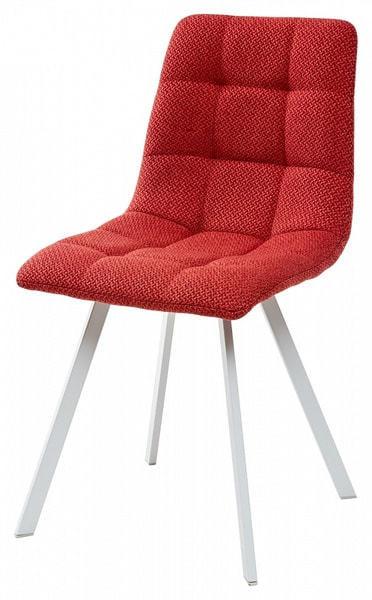 Стул CHILLI SQUARE TRF-04 красный, ткань/ белый каркас (фото)