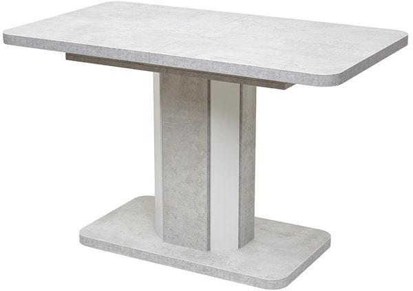 Стол STORK Белый бетон/ Белый 120 (фото)
