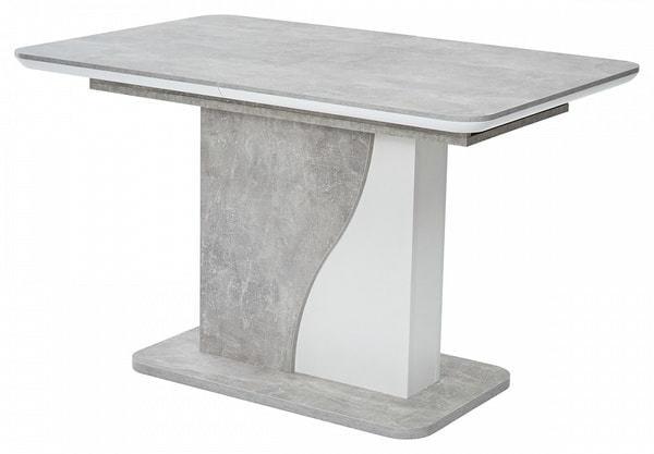 Стол SIRIUS Бетон/ Белый 120 (фото)