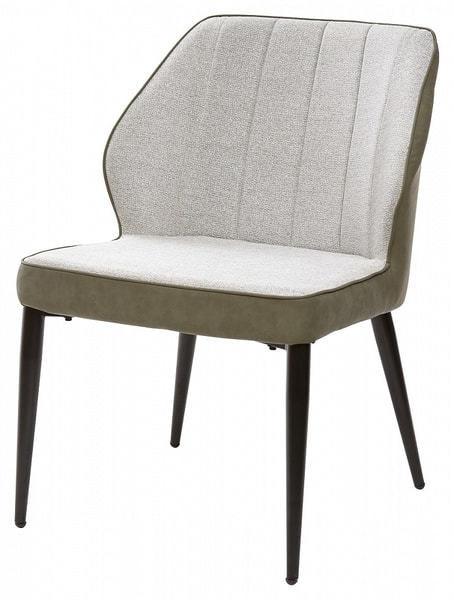 Стул-кресло RIVERTON светло-серый меланж FC-01/ экокожа хаки RU-04 (фото)