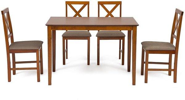 Обеденная группа Хадсон (стол + 4 стула)/ Hudson Dining Set (дуб золотисто-коричневый) (фото)