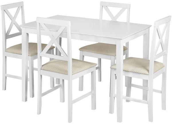 Обеденная группа Хадсон (стол + 4 стула)/ Hudson Dining Set (белый) (фото)