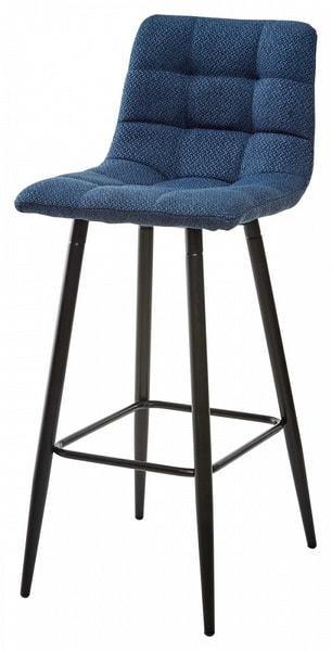 Стул барный SPICE TRF-06 полночный синий, ткань (фото)