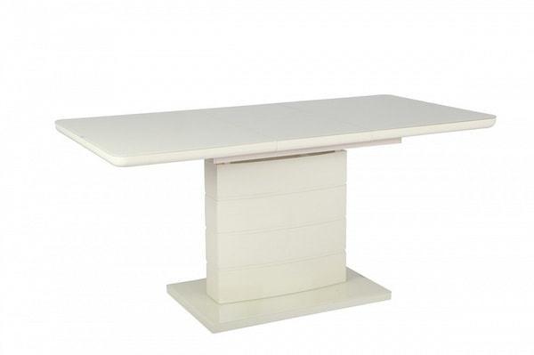 Стол ALTA 140 BEIGE / супер бежевое глянцевое стекло