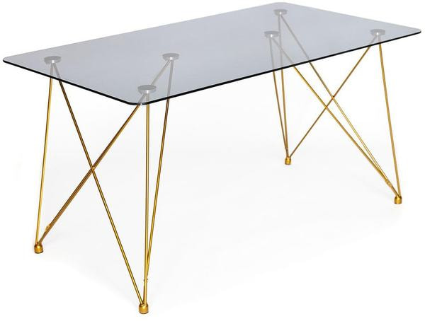 Стол Vulcano (mod. DT1423) черный/золотой (фото)