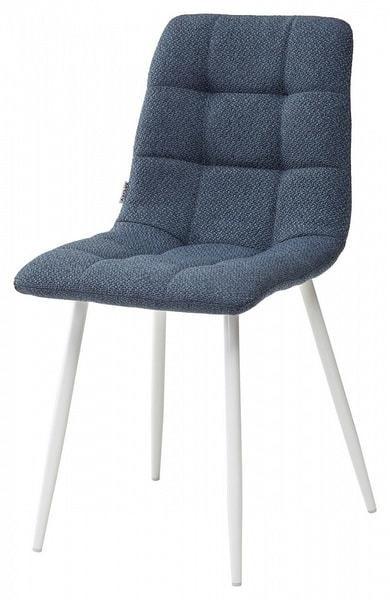 Стул CHILLI TRF-06 полночный синий, ткань / белый каркас (фото)
