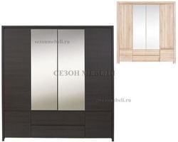 Шкаф с 2 зеркалами Август SZF 6D2S