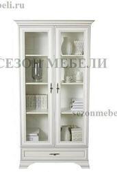 Шкаф-витрина Кентаки REG2W1S белый