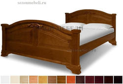 Кровать Леонсия с резьбой