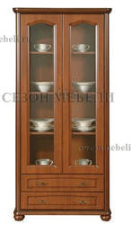 Шкаф с витриной Наталия 100/2s