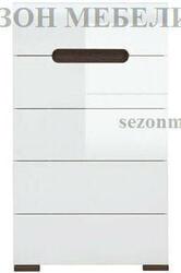 Комод Ацтека KOM5S/10/6 белый/белый блеск