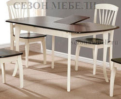 Стол JIN EXT 3232 E4 (Cream+Cappucino)