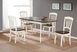 Обеденная группа (стол JIN EXT 3232 E4 и стулья JIN D-2092)