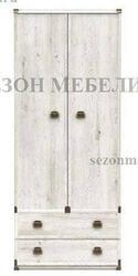Шкаф Индиана JSZF 2D 2S 80 сосна каньйон (с полками)