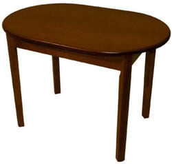 Стол обеденный овальный ВМ40 (коньяк)