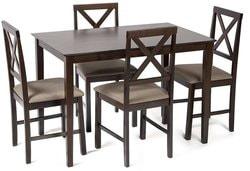 Обеденная группа Хадсон (стол + 4 стула)/ Hudson Dining Set (темный орех)