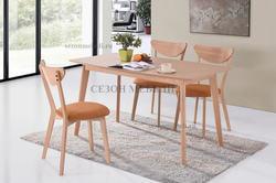 Обеденная группа (стол Veno и стулья Maxi) натуральный
