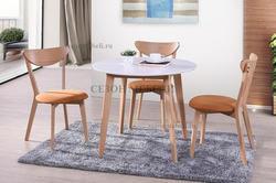 Обеденная группа (стол Bosco и стулья Maxi) натуральный