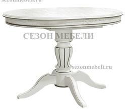 Стол Альт-2 ЛАЙТ белая эмаль с серебряной патиной