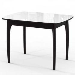 Стол М15 ДН4 (Венге+Белое стекло)
