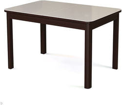 Стол №41 (Венге+Белое стекло)