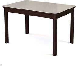 Стол №41 венге/ стекло белое