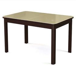 Стол №41 венге/ стекло бежевое