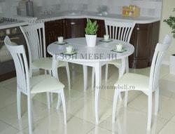 Обеденная группа Kenner (стол 1000С со стеклом и стулья 102М)