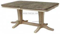 Стол LT T17547 DARK OAK #K532/ BUTTERMILK #WW504