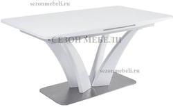 Стол FREYA 160 WHITE GLASS