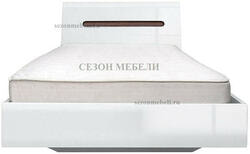 Кровать Ацтека LOZ90,140,160,180х200 белый/белый блеск