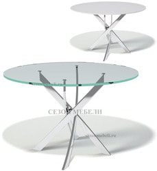 Стол Kenner R1200 со стеклом