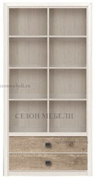 Стеллаж Коен REG 2S/103 ясень снежный/ сосна натуральная