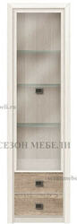 Витрина 1-дверная Коен REG1W2S ясень снежный/ сосна натуральная