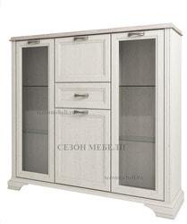 Шкаф с витриной Монако (Monako) 2V2D1S (возможна подсветка)