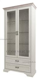 Шкаф с витриной Монако (Monako) 2V2S (возможна подсветка)