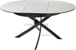 Стол ORBIT D110 мрамор/графит