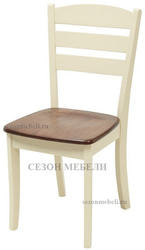 Стул JIN D-214E(W) (Cream+Oak)