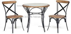 Обеденная группа Piemonte (Пьемонте) (стол+2 стула)
