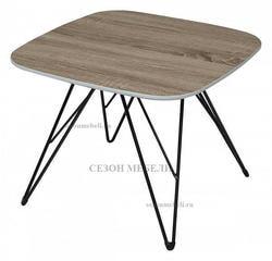 Стол журнальный WOOD82 #4 дуб серо-коричневый винтажный