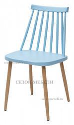 Стул EASEL голубой PP/металл ламинированный