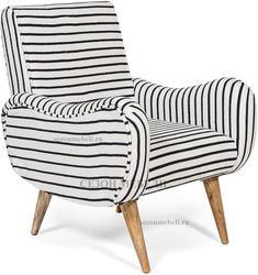 Кресло Sondrio (black/white stripes)