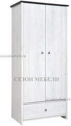 Шкаф платяной Порто SZF2D1S