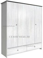 Шкаф платяной Порто SZF4D2S