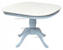 Стол TS LOUVRE D106 IVORY WHITE/ BLUE (LV-T106EX)