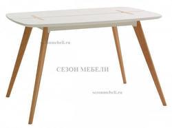 Стол OXALIS 120 белый/массив бука