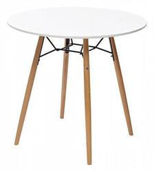 Стол CLIDE D80 белый/массив бука