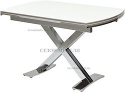 Стол KRIS NKL 120 см белый / никель